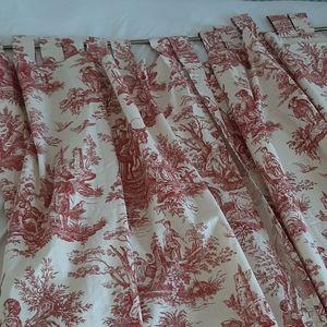 2 Waverly curtain panels